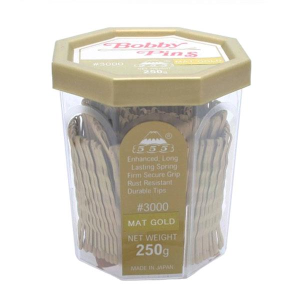 555 Bobby Pins 2 inch Matt Gold 250g