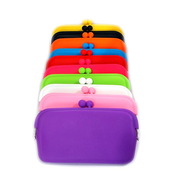 XL/Mega Rubber Silicon Purse Carrying Case for eGo e-cigarette Candy Color(Pink)