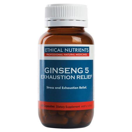 Ethical Nutrients Ginseng 5 Exhaustion Relief - 60 Capsules