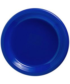 Royal Blue Plastic Plate 18cm Pack of 20