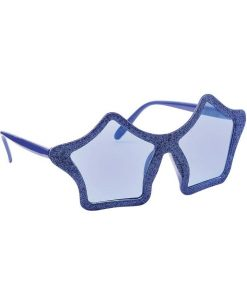Blue Star Shaped Glasses