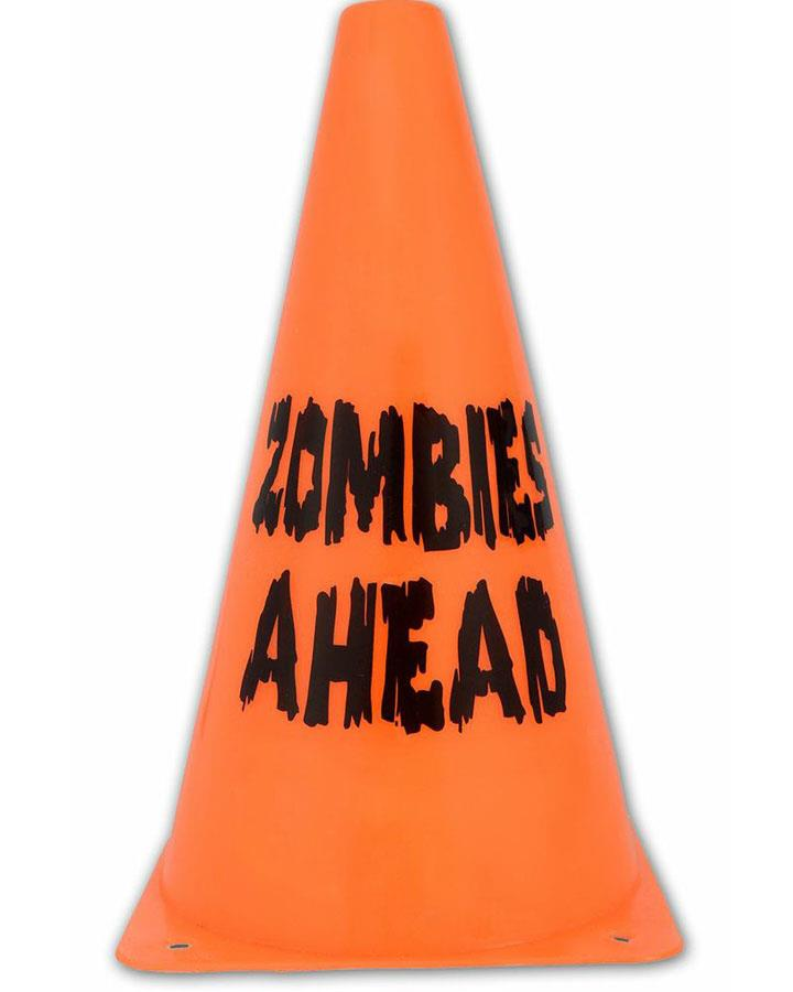 Zombies Ahead Caution Cone