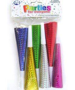 6 Pack of  Assorted Colour Trumpets
