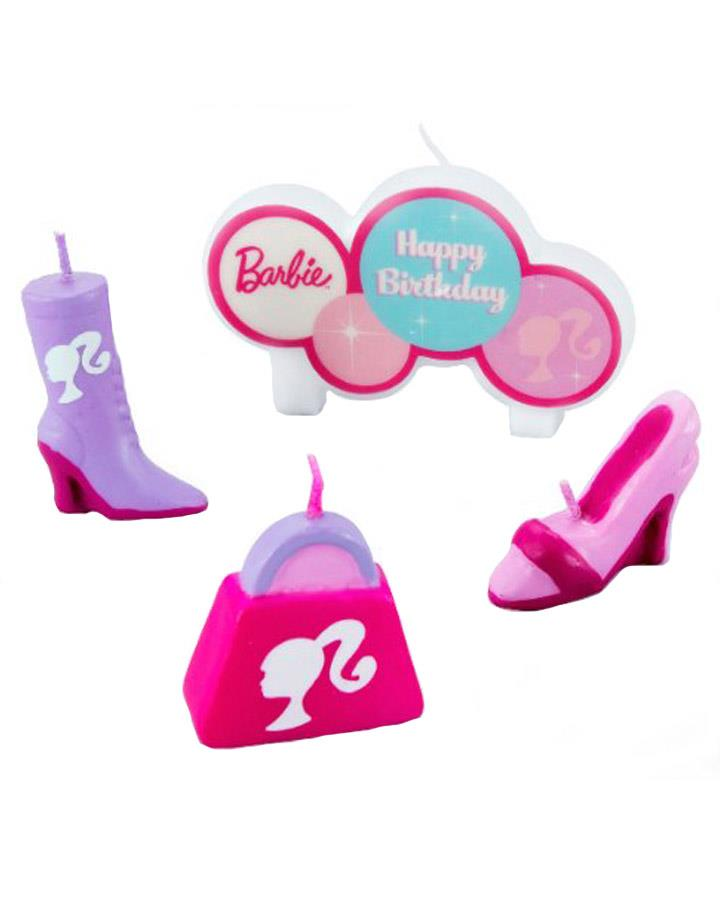 Barbie Candles Set Pack of 4