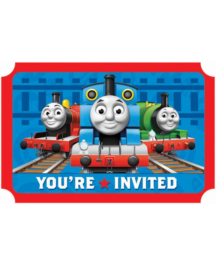 Thomas and Friends Party Invitations Pack of 8