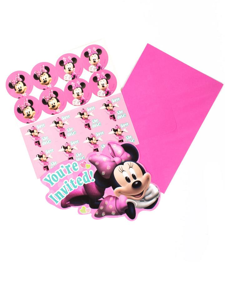 Minnie Mouse Party Invitations Pack of 8