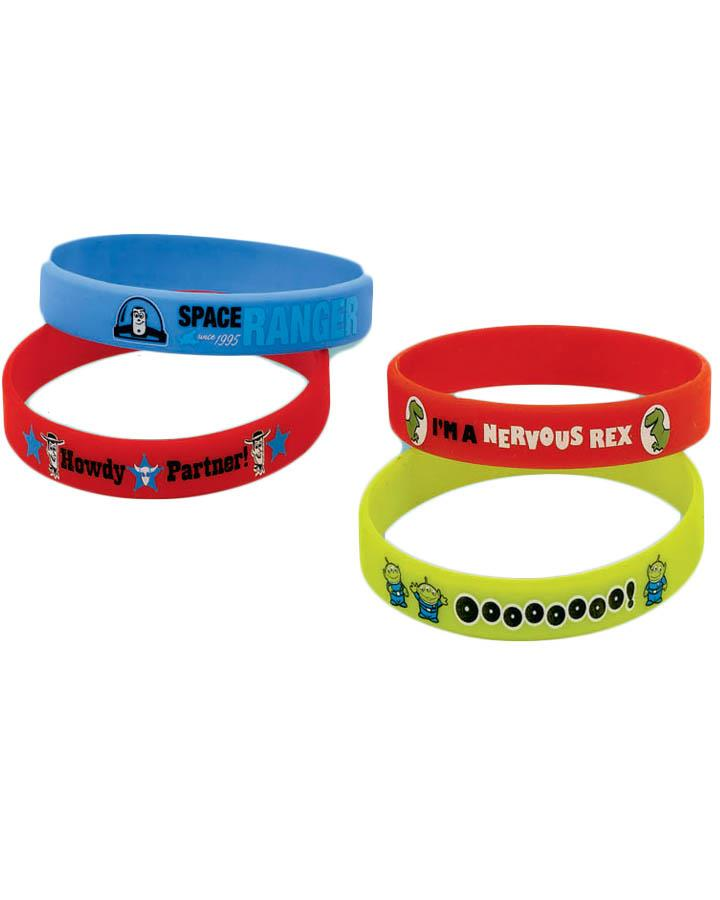 Toy Story 3 Wristband Favours Pack of 4