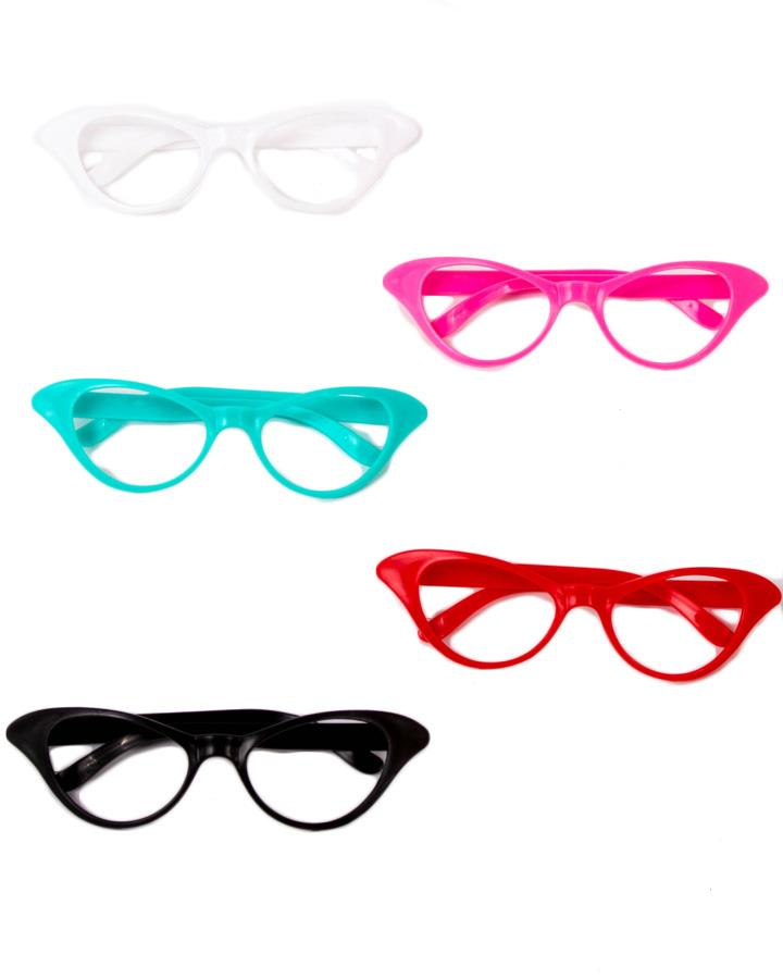 50s Cat Eye Style Glasses Pack