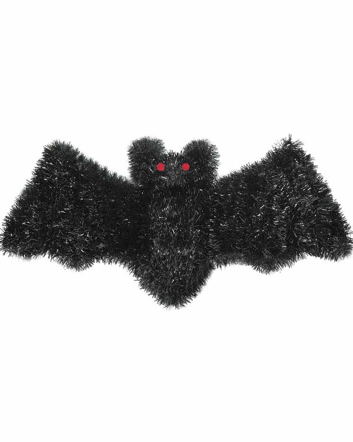 Black Bat Tinsel Decoration