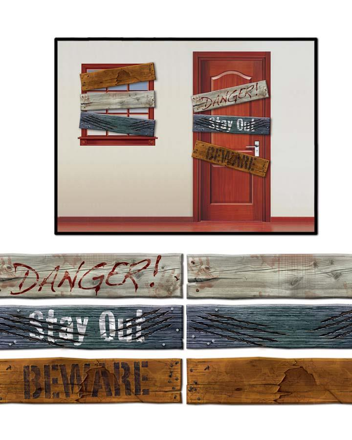 3 Pack Weathered Boad Double Sided Cutout
