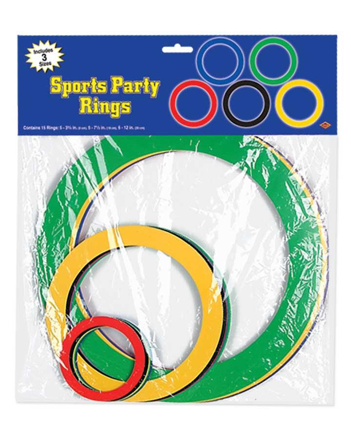 15 Pack Sports Rings Set