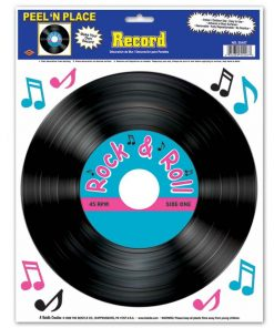 50s Record Peel and Place Decal