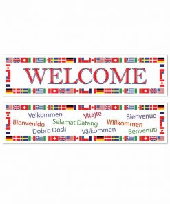 2 Pack International Welcome Banners