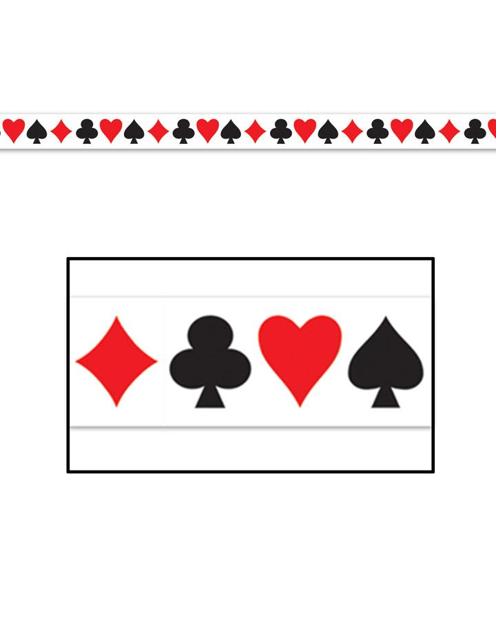Casino Card Suit Party Tape