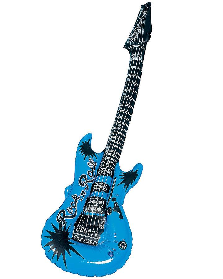 Blue Inflatable Guitar