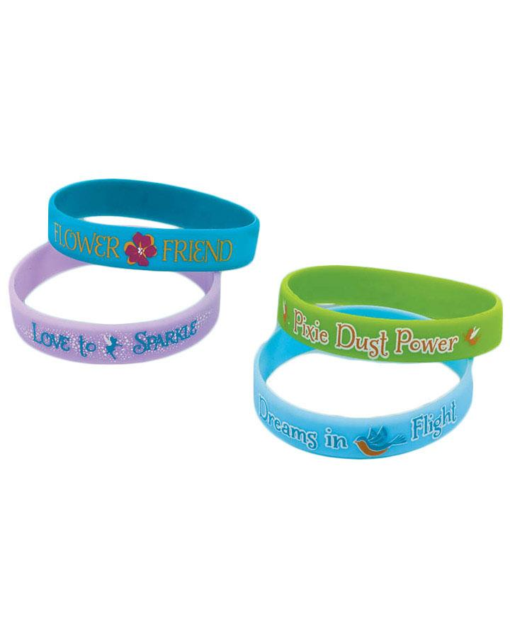 Tinkerbell Wristband Favours Pack of 4