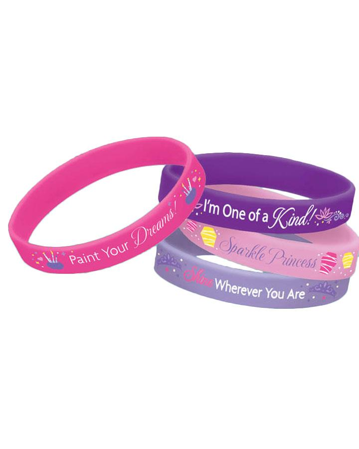 Tangled Wristband Party Favours Pack of 4