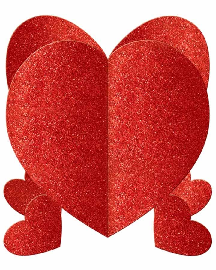 Valentines Mini  Heart Centerpiece Pack of 3