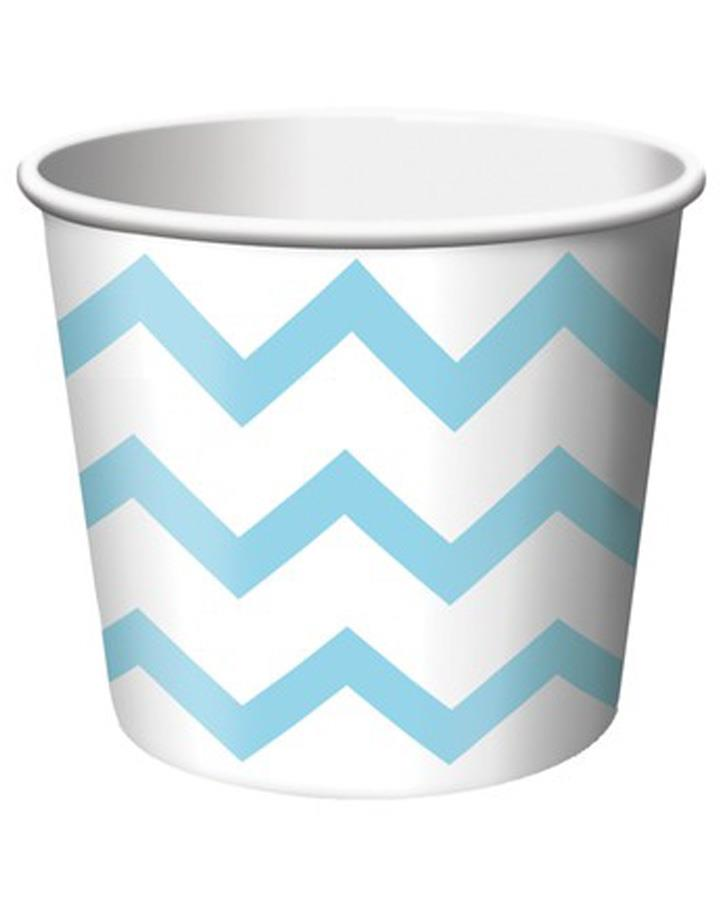 Pastel Blue Chevron Treat Cups Pack of 6