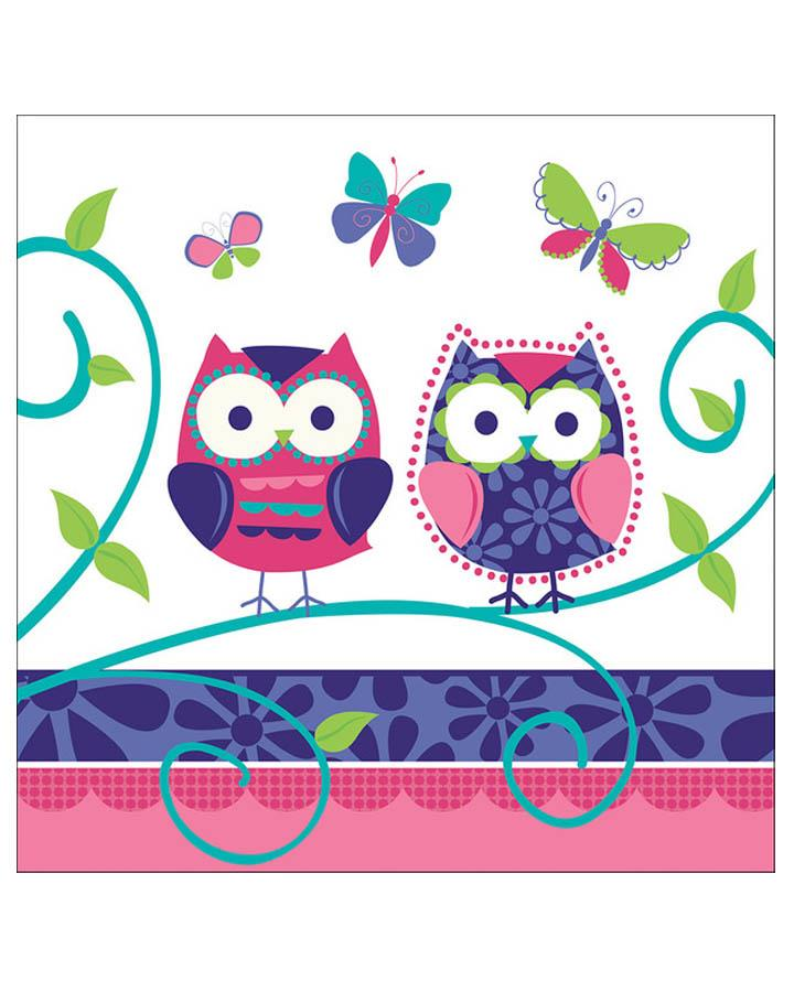 Owl Pal Luncheon Napkins Pack of 16