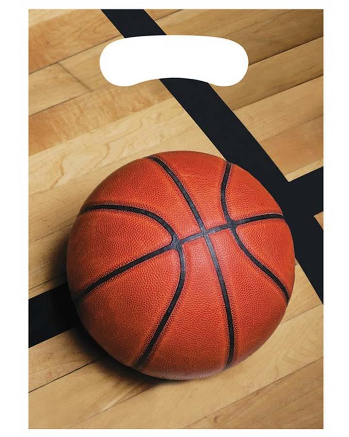 Basketball Lolly Bags Pack of 8