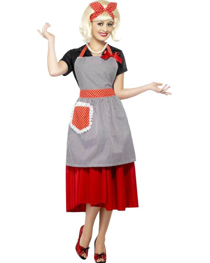 50s Housewife Honey Kit Womens Costume