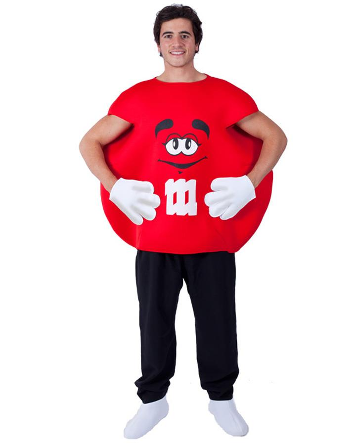 Red M and M Sweet Adults Costume