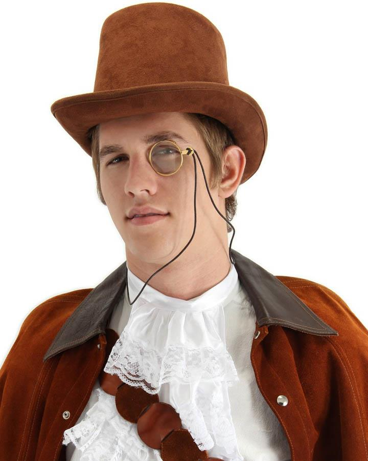 Steampunk Monocle Gold Clear