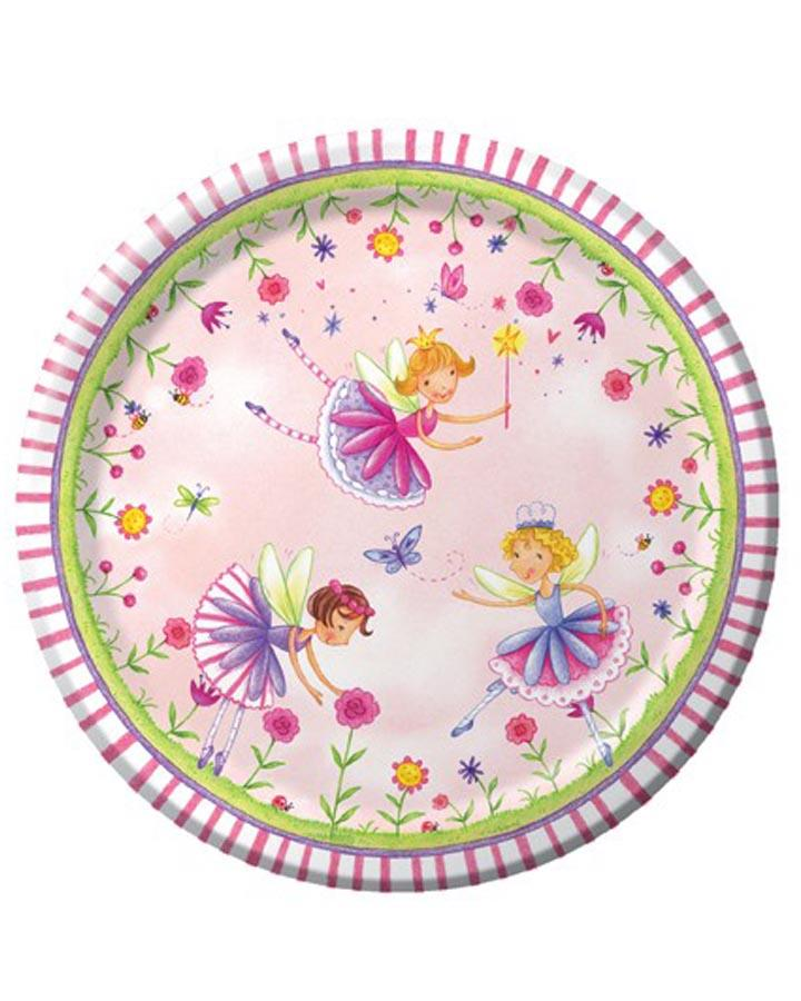 Garden Fairy 18cm Party Plates Pack of 8