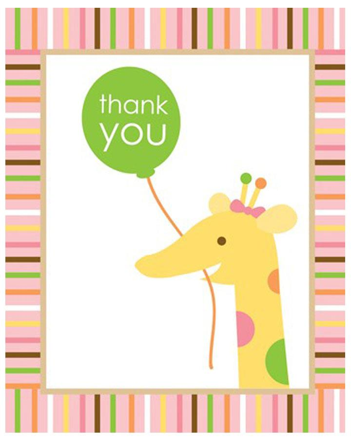 Sweet At One Girls Thank You Cards Pack of 8
