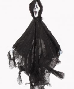 12 Inch Black Halloween Ghost Decoration