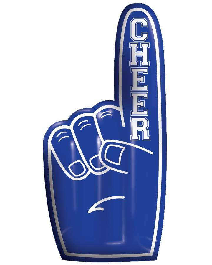 Blue Number One Finger Inflatable Hand