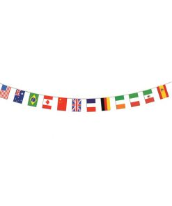 12 International Flag Banner