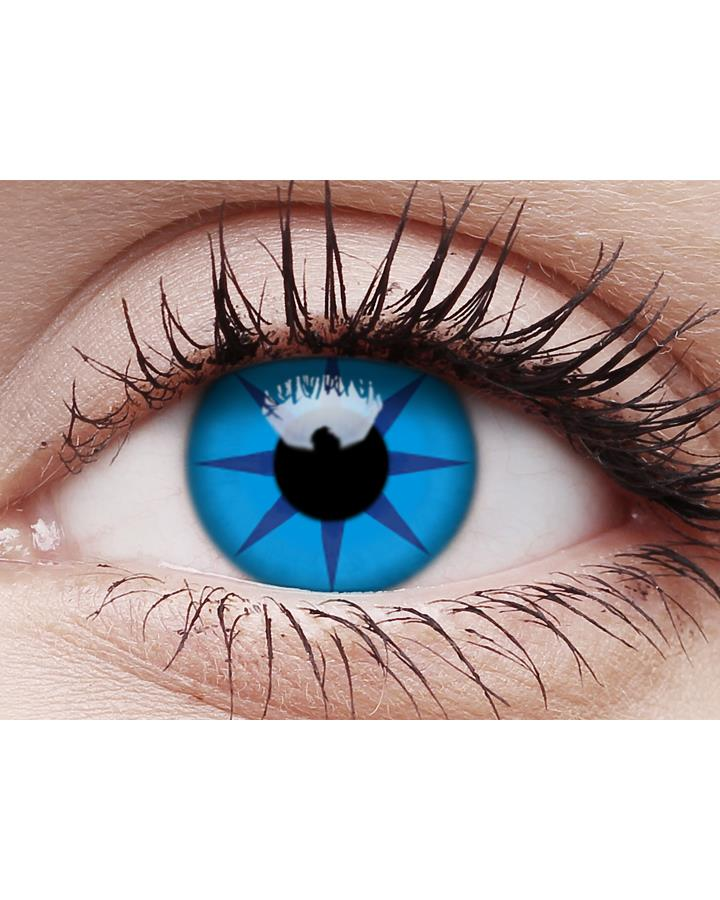 Blue Star Contact Lenses and Case