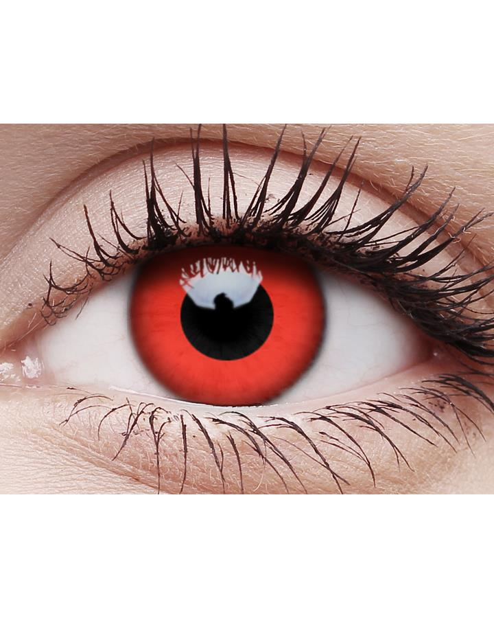 One Wear Red Devil Contact Lenses and Case