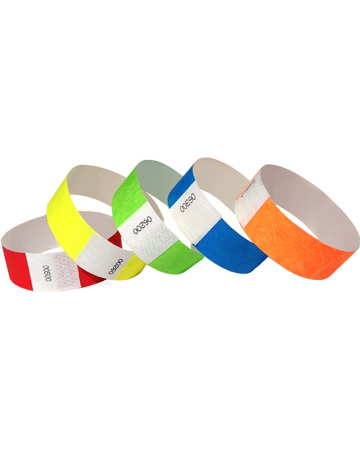 100 Pack of Assorted Coloured Wristbands