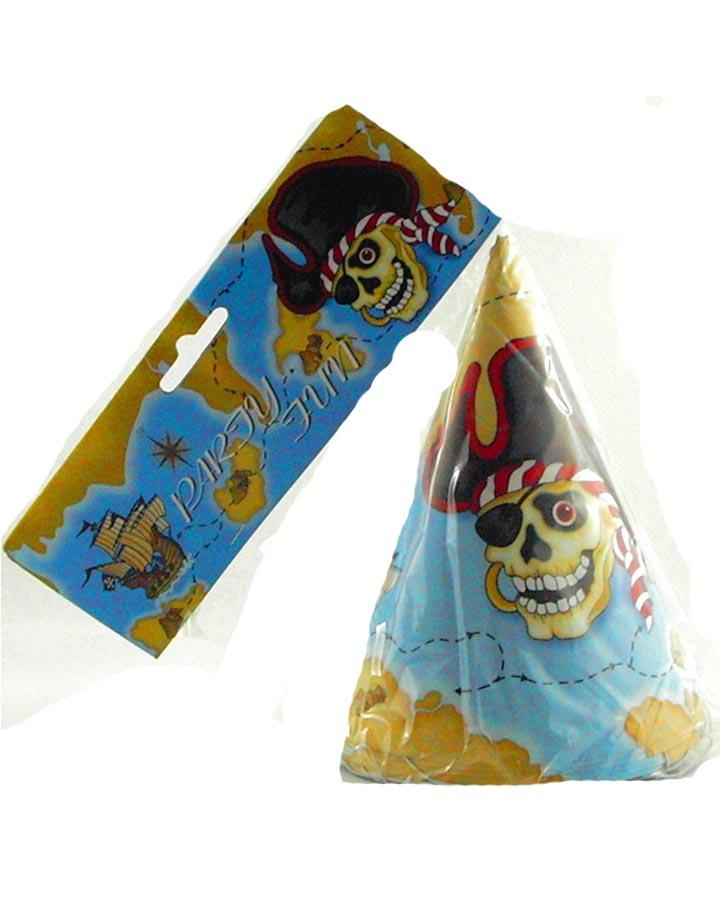 Pirate Party Hats Pack of 6