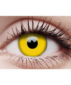 Yellow Contact Lenses and Case