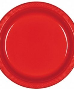 Apple Red 26cm Party Plates Pack of 20
