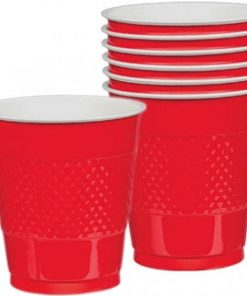 Apple Red 355ml Party Cups Pack of 20