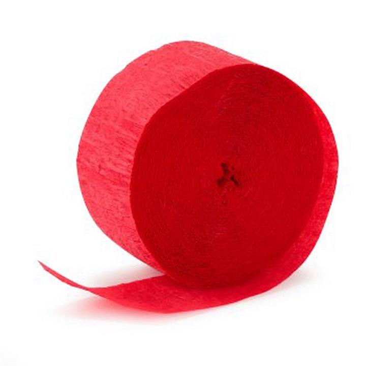 Crepe Streamer Holiday Red