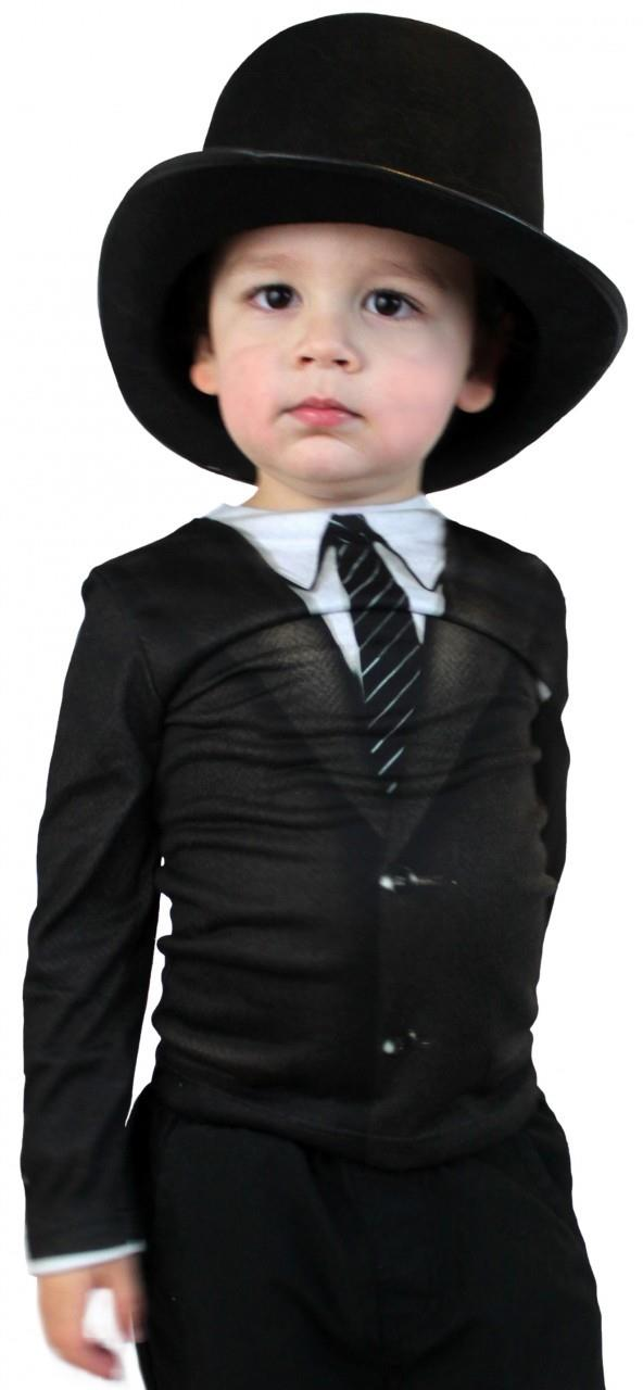 Fake Suit and Tie Long Sleeve Kids Shirt