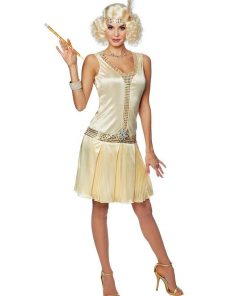 1920s Champagne Flapper Womens Costume