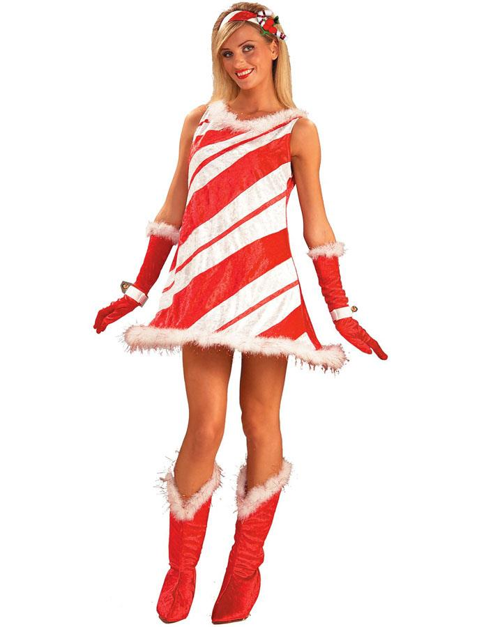 Miss Candy Cane Womens Costume