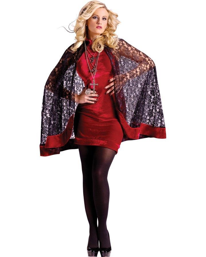 Velvet and Lace Goth Capelet