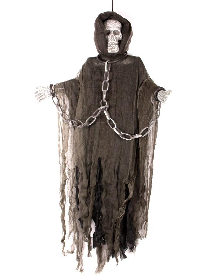 60 Inch Brown Hanging Skeleton Figure with Chains