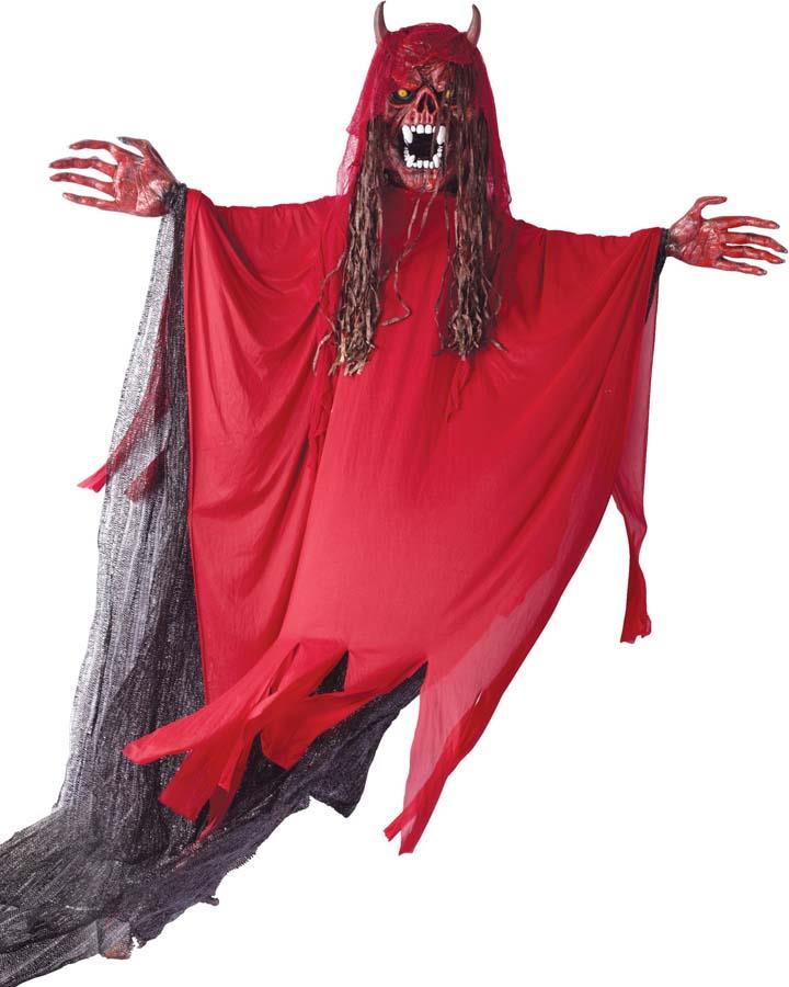 10 Foot Hanging Red Fanged Demon Decoration