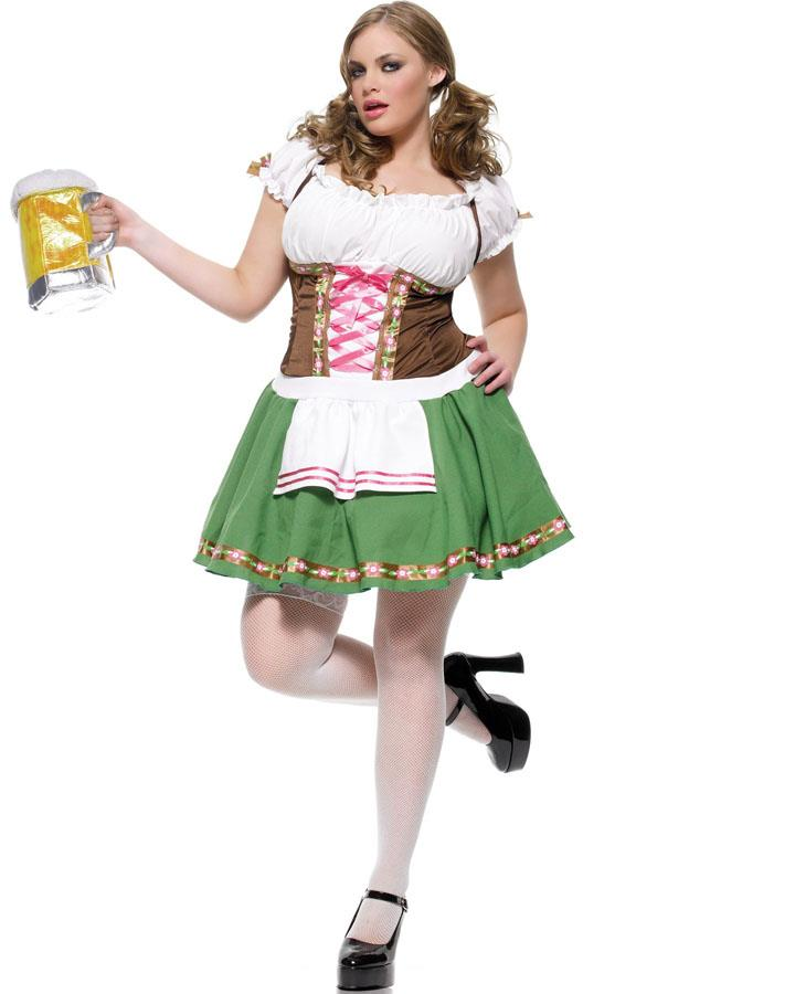 Gretchen Beer Maid Womens Plus Size Costume
