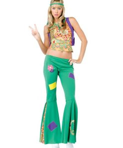 60s Peace Sign Hippie Womens Costume