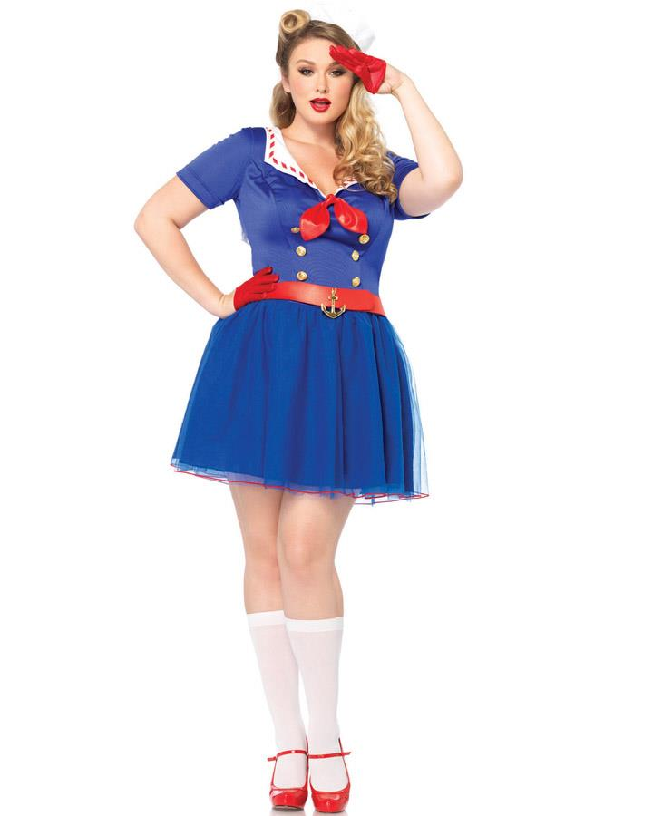 Ahoy There Sailor Womens Plus Size Costume